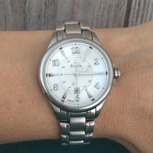 Bulova watch, stainless steel, women's
